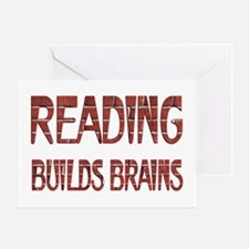 Reading Builds Brains Greeting Card
