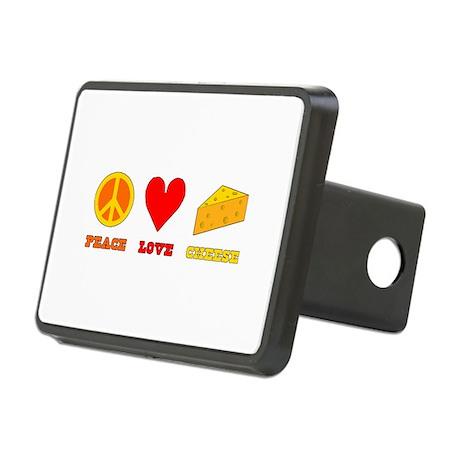 Peace Love Cheese Rectangular Hitch Coverle)