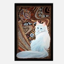 White Turkish Angora Postcards (Package of 8)