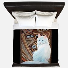 White Turkish Angora King Duvet