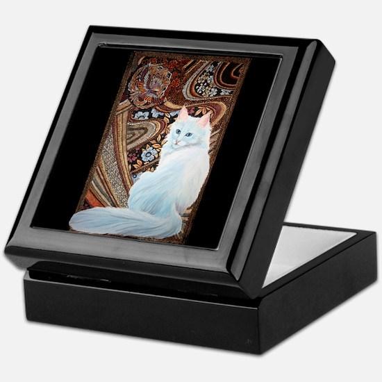 White Turkish Angora Keepsake Box