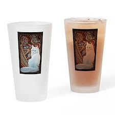 White Turkish Angora Drinking Glass