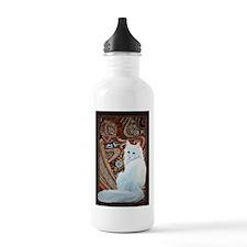 White Turkish Angora Sports Water Bottle