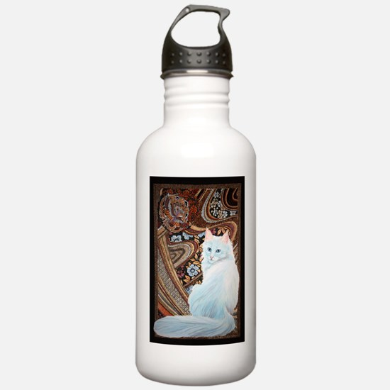 White Turkish Angora Sports Water Bottle