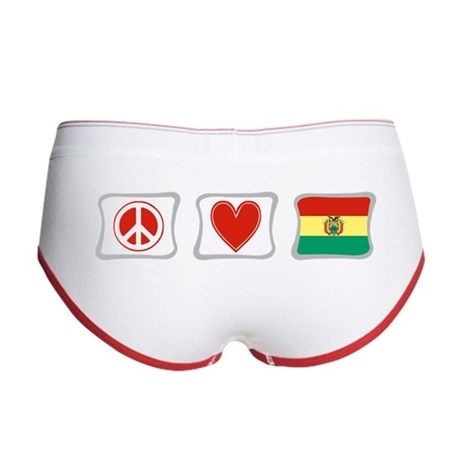 Peace, Love and Bolivia Women's Boy Brief
