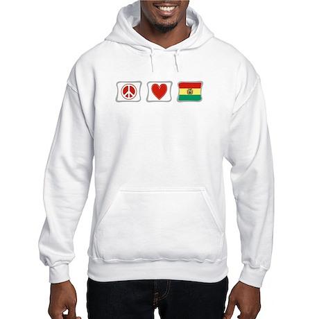 Peace, Love and Bolivia Hooded Sweatshirt