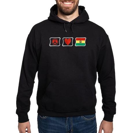 Peace, Love and Bolivia Hoodie (dark)