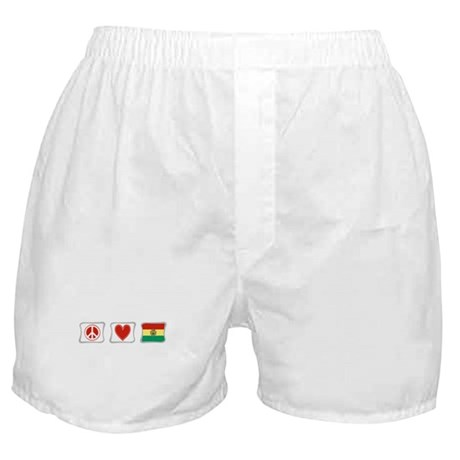 Peace, Love and Bolivia Boxer Shorts
