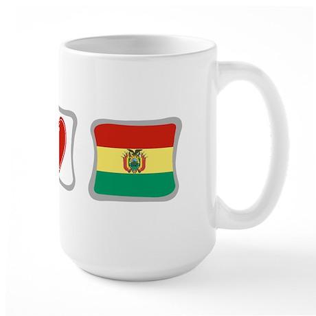 Peace, Love and Bolivia Large Mug
