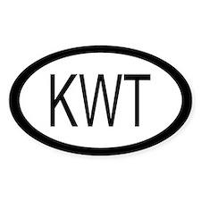 Kuwait Car Sticker / Decal (Oval)