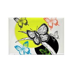 OYOOS Butterfly design Rectangle Magnet (100 pack)