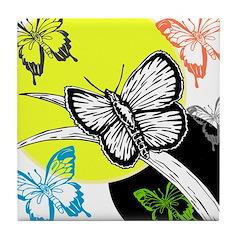 OYOOS Butterfly design Tile Coaster