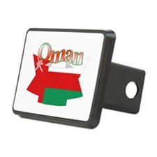 Oman flag ribbon Hitch Cover