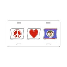 Peace, Love and Belize Aluminum License Plate