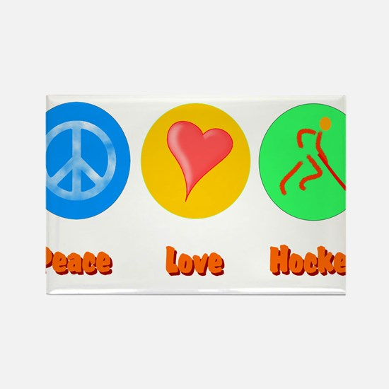 Peace Love Hockey 6000.png Rectangle Magnet