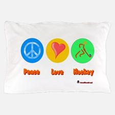 Peace Love Hockey 6000.png Pillow Case