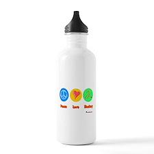 Peace Love Hockey 6000.png Water Bottle
