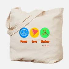 Peace Love Hockey 6000.png Tote Bag