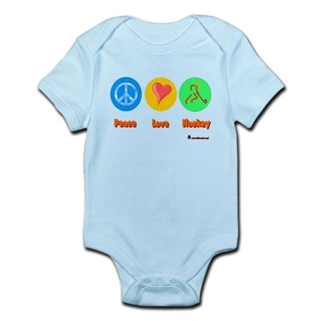 Peace Love Hockey 6000.png Infant Bodysuit