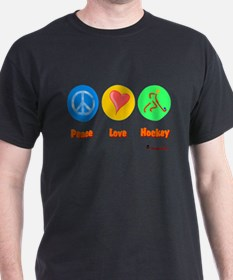 Peace Love Hockey 6000.png T-Shirt