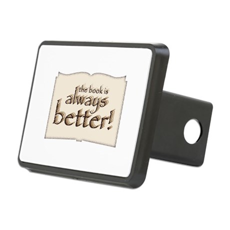 Book is Better Rectangular Hitch Cover