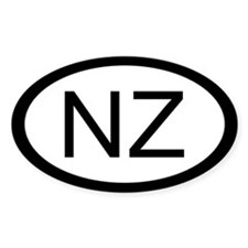 New Zealand Car Sticker / Decal (Oval)