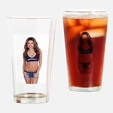 Lea Caprice Model Dallas Cowboys Drinking Glass