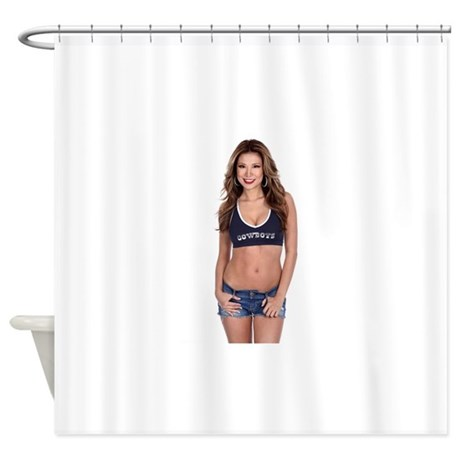 Lea Caprice Model Dallas Cowboys Shower Curtain