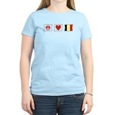 Peace, Love and Belgium T-Shirt