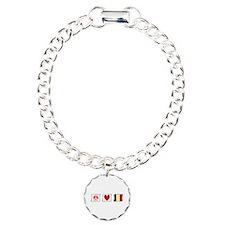 Peace, Love and Belgium Bracelet