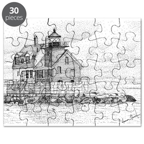 Breakwater Lighthouse, Rockland, Maine Puzzle