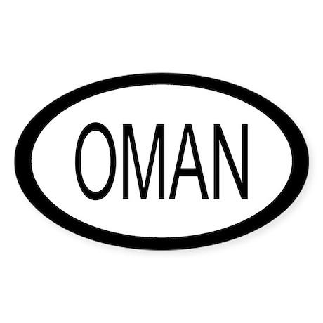 Oman Car Sticker / Decal (Oval)