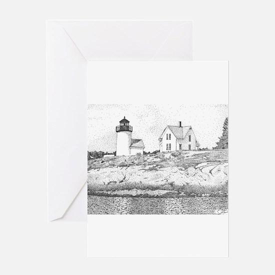Curtis Island Lighthouse, Camden, Maine Greeting C