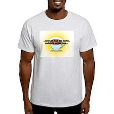 ALMOST UNLIKE TEA Ash Grey T-Shirt