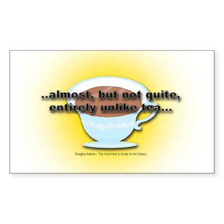 ALMOST UNLIKE TEA Rectangle Sticker