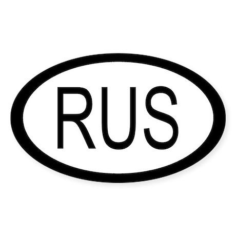 Russia Car Sticker / Decal (Oval)