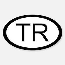 Turkey Car Sticker / Decal (Oval)