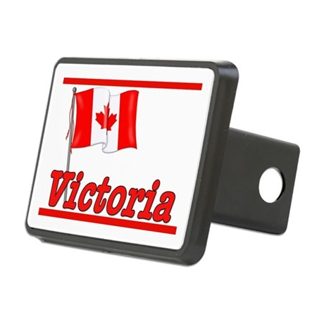 Canada Flag - Victoria Text Rectangular Hitch Cove