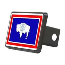 Wyoming Flag Hitch Cover