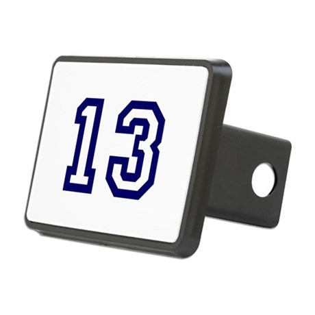 Number 13 Rectangular Hitch Cover