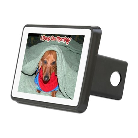 Red Dachshunds Rectangular Hitch Cover