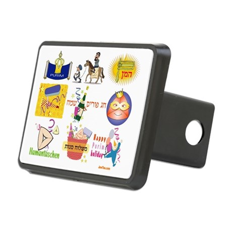 Happy Purim Collage Rectangular Hitch Cover