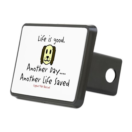 Life Is Good Rectangular Hitch Cover