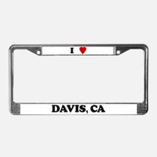 I Love Davis License Plate Frame