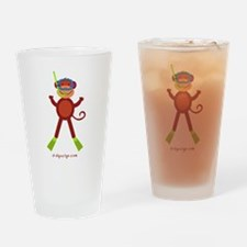 Monkey Snorkel Drinking Glass