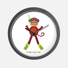 Monkey Snorkel Wall Clock