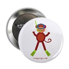 "Monkey Snorkel 2.25"" Button"