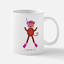 Monkey Snorkel - Pink Mug