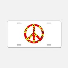 Peace Sign Red Yellow Cherry Blossom.png Aluminum