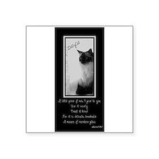 DollyCat Poetry Verse - Ragdoll Cat Square Sticker